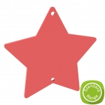100mm+Star+Hanging+Plaque+with+Centre+Hanging+Holes+-+Acrylic++MDF++Wood