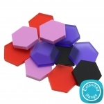 25mm+Hexagon+Embellishment+-+Acrylic++MDF++Wood