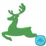 60mm+Leaping+Reindeer+-+MDF+Acrylic+Wood