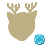 Blank+Reindeer+Bauble+-+150mm+-+Acrylic++MDF++Wood